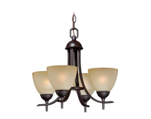 """Somerville 4 Light 16 5"""" Oil Rubbed Bronze Mini Chandelier"""
