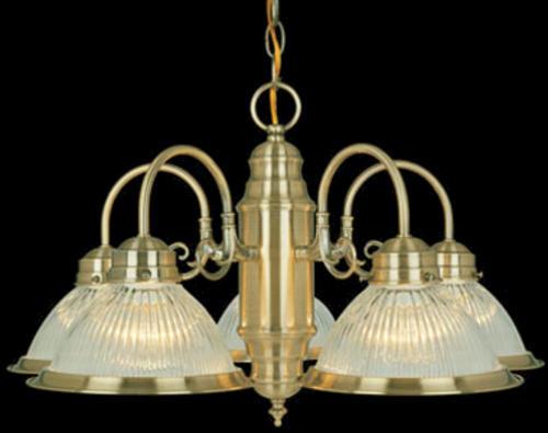 "Saturn 5 Light 23"" Antique Brass Chandelier at Menards"