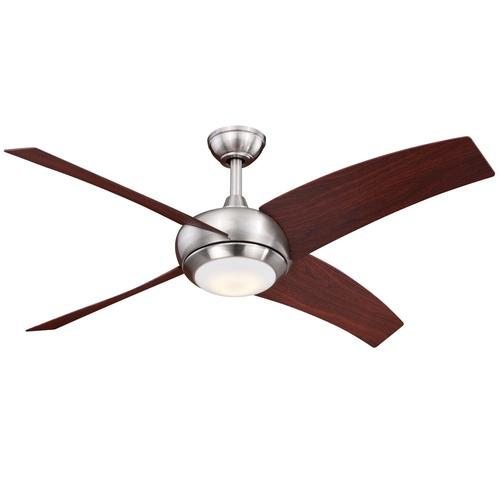 Menards Ceiling Fans : Turn of the century ridge in satin nickel led ceiling