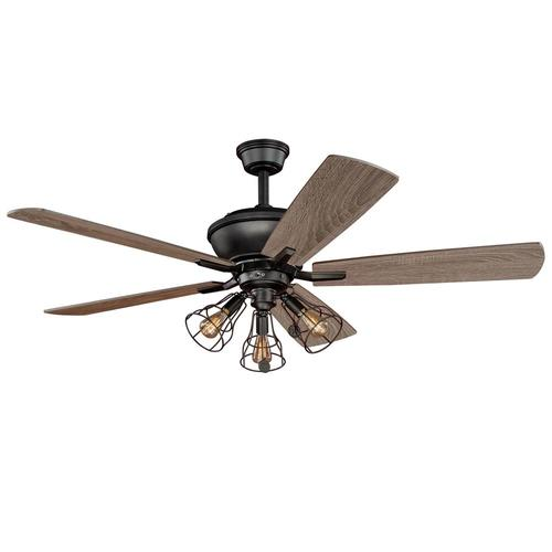 Turn Of The Century Manchester 52 In. Bronze Ceiling Fan