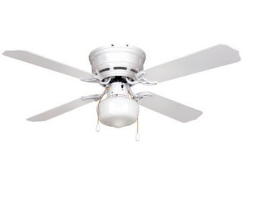 turn of the century eros 42in white ceiling fan at menards. Black Bedroom Furniture Sets. Home Design Ideas