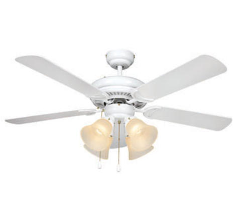 Turn of the Century Minerva 44in White Ceiling Fan at