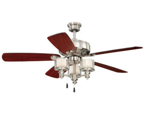 of the century tempo 52in brushed nickel ceiling fan at menards. Black Bedroom Furniture Sets. Home Design Ideas