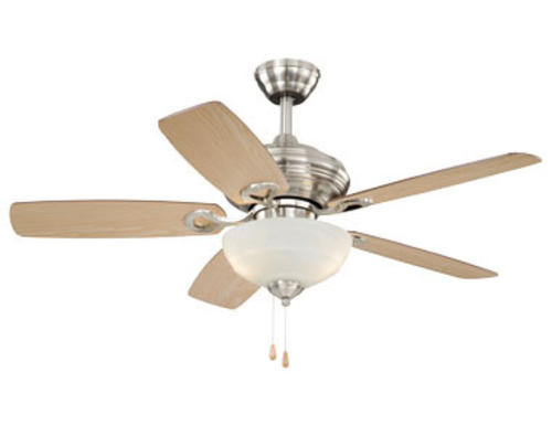 Menards Ceiling Fans : Turn of the century vienna in satin nickel ceiling fan