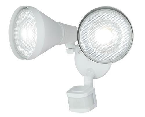 "Shop Good Earth Lighting Metropolitan 3 Light Bronze: LED 10"" 240-degree 2-head Motion Activated Flood Light At"
