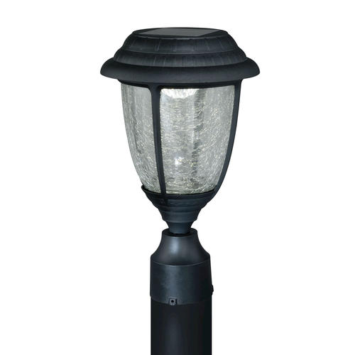 Abra LED 13 7 8 Black Solar Outdoor Post Light At Menards
