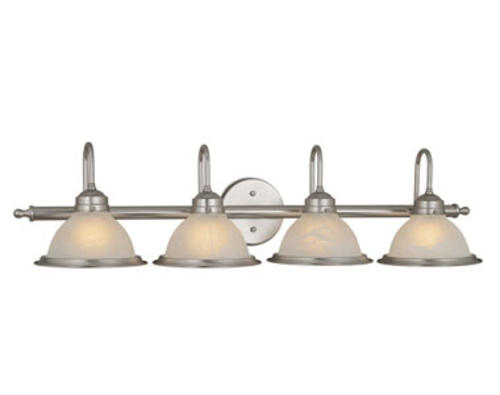 "Shop Progress Lighting 4 Light Calven Brushed Nickel: Saturn 4-Light 35.5"" Brushed Nickel Vanity Light At Menards®"