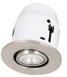 "1-Light 4"" Recessed Light with Satin Nickel Gimball"