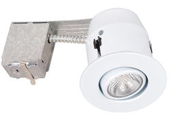 "1-Light 4"" Recessed Light with White Gimball"