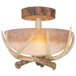 "Yosemite 2-Light 12"" Noachian Stone Semi Flush Ceil"