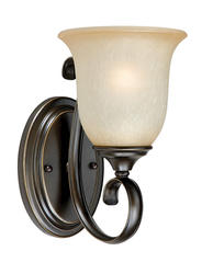 """Mavis 1-Light 6"""" Oil Brushed Bronze with Gold Accent Wall Lantern"""