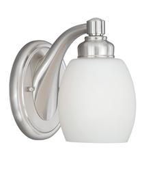 "Olympia 1-Light 5"" Satin Nickel Wall Lantern"