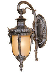 "Concord 1-Light 16.5"" Gold Stone Outdoor Wall Light"