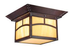 """Rosetti 2-Light 11.5"""" Oil Rubbed Bronze Outdoor Ceiling Light"""