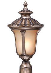 """Windsor 1-Light 19"""" Parisian Bronze Outdoor Post Light"""