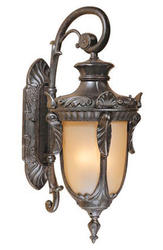 "Concord 3-Light 25.25"" Gold Stone Outdoor Wall Light"