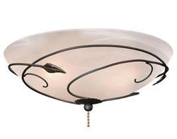 """2-Light 13.25"""" Oil Rubbed Bronze Ceiling Fan Light"""