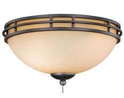 "2-Light 13"" Oil Burnished Bronze Celing Fan Light"
