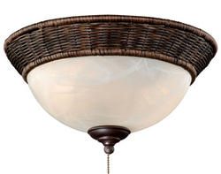 """2-Light 13"""" Espresso Ceiling Fan Light"""