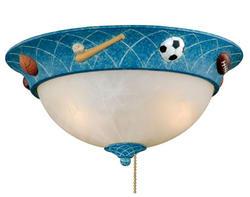 "2-Light 13.375"" Painted Navy Blue Ceiling Fan Light"