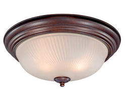 "Galaxy 2-Light 15"" Weathered Patina Ceiling Light"