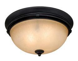 """Abby 2-Light 14"""" Noble Bronze Ceiling Light"""