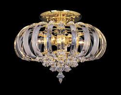 "Rainier 6-Light 17"" Bright Brass Acrylic Ceil Light"