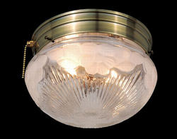 "Flora 2-Light 9"" Antique brass Ceiling Light"