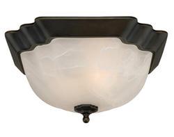 """Tempo 2-Light 13"""" Oil Rubbed Bronze Flush Mount Ceiling Light"""