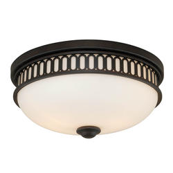 "Kathleen 2-Light 13"" Noble Bronze Ceiling Light"