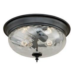 """Parra 2-Light 14"""" Noble Bronze Ceiling Light"""
