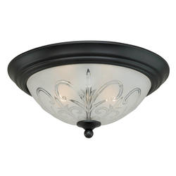 "Gable 2-Light  13.875"" Noble Bronze Ceiling Light"