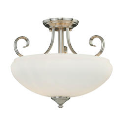 "Danica 2-Light 14"" Satin Nickel Semi-Flush"