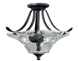 "Marcella 2-Light 15.25"" New Bronze Semi-Flush"