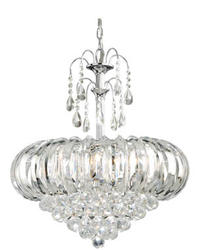 "Royal 5-Light 20.25"" Chrome Chandelier"