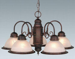 "Saturn 5- Light 23""Weathered Patina Chandelier"