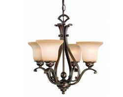 """Verona 4-Light 18.5"""" Royal Bronze Chandelier"""