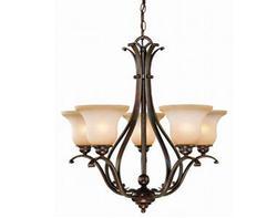 """Verona 5-Light 26"""" Royal Bronze Chandelier"""