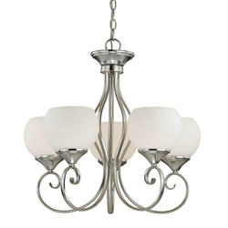 "Danica 5-Light 24"" Satin Nickel Chandelier"
