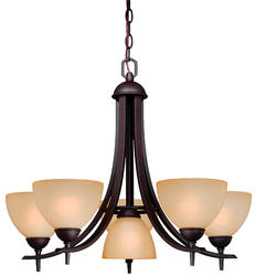 "Somerville 6-Light 25.5"" Oil Rubbed Bronze Chandelier"