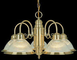 "Saturn 5-Light 23"" Antique Brass Chandelier"