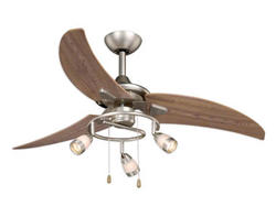 Turn Of The Century Photon 48in. Brushed Nickel Ceiling Fan