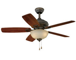 Turn Of The Century Vienna 42in. Oil Rubbed Bronze Ceiling Fan