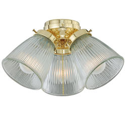 "Ingall 3-Light 12"" Bright Brass Fan Light"