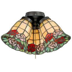 """Mila 3-Light 11.5"""" Oil Brushed Bronze Fan Light"""