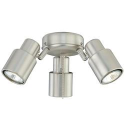 """Jetson 3-Light 12"""" Brushed Nickel Fan Light"""