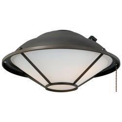 """Lantern 2-Light 12"""" Oil Rubbed Bronze Fan Light"""