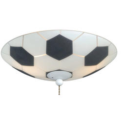 "Soccer 2-Light 11.5"" White Fan Light"