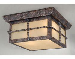 "Dayton 2-Light 10"" Iron Patina Outdoor Ceiling Light"