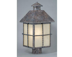 "Dayton 1-Light 16.75"" Iron Patina Outdoor Post Light"